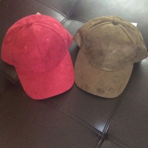 Accessories - Sale! Suede baseball hats- awesome fit!